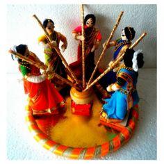 Wedding Doll- Haldi Function #haldi #wedding #indiaethnix Indian Wedding Gifts, Desi Wedding Decor, Indian Wedding Decorations, Wedding Crafts, Flower Decorations, Thali Decoration Ideas, Wedding Doll, Wedding Ring, Trousseau Packing