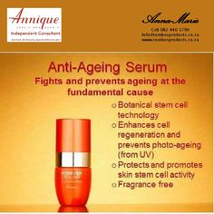 Annique Anti-aging serum with rooibos Best Anti Aging Serum, Anti Aging Cream, Anti Inflammatory Oils, Aloe Vera Mask, Cells Activity, Cell Regeneration, Olay Regenerist, Nu Skin, Stem Cells