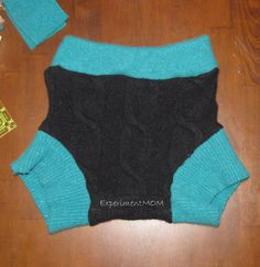 Experiment MOM: Upcycled Challenge: Wool Sweater to Wool Diaper Soaker #freefromtrash