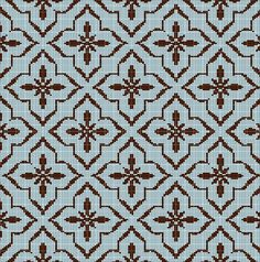 TILE+PATTERN+TAPESTRY+STYLE+CROCHET+AFGHAN+PATTERN+GRAPH