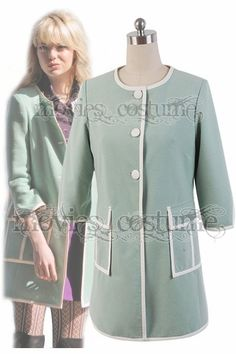 Gwen Stacy Green Coat Costume for The Amazing Spider-Man 2 Cosplay