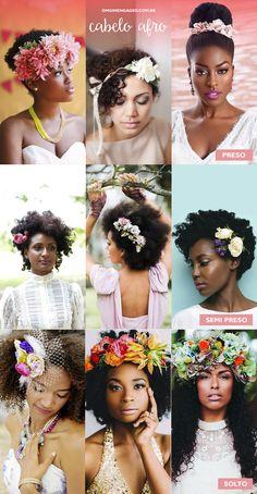 Cabelos com arranjos de flores naturais. - OMG I'm Engaged