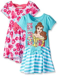 Disney Little Girls 2 Pack Belle Dresses Pink 5 -- You can get more details by clicking on the image.