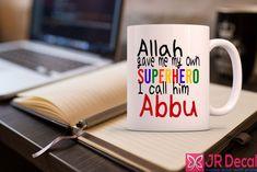 Habibi Habibti Heart Shaped Printed Islamic Mug for Muslim Couple Islamic mug Morning coffee mug Muslim gift Romantic Muslim Couple Islamic gift ideas for Her and him D3