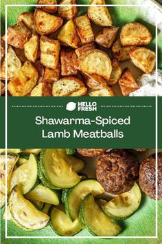 This is one fast and easy dinner recipe you'll love! Shawarma spiced lamb meatballs are the star of this dish, served alongside crispy roasted potatoes and a zesty dill yogurt sauce. Skip the take-out and make this simple recipe at home for a fraction of the price! Weeknight Recipes, Easy Dinner Recipes, Easy Meals, Family Recipes, Family Meals, Lamb Meatballs, Balanced Meals, Yogurt Sauce, Shawarma
