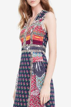 DVF Amabelle Snake Trim Pieced Silk Gown | Landing Pages by DVF