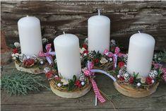 Natal Diy, Buxus, Homemade Cards, Pillar Candles, Table Decorations, Christmas Ideas, Crafts, Craft Ideas, Christmas Crafts