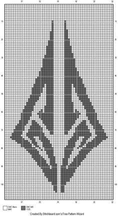 Octavia Ember RWBY cross stitch