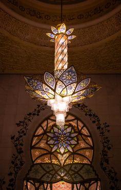 Chandelier of the Grand Mosque of Sheikh Zayed, Abu Dhabi, UAE by julian john