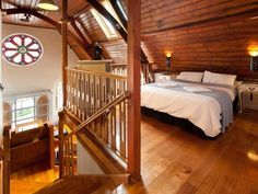 Once a church, now an amazing house with a loft bedroom.