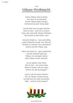 """""""Mäuse-Weihnacht"""" - Weihnachtsgeschichte in 24 Strophen - eBook für 1,99€ hier: www.kitakiste.jimdo.com"""