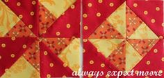 Cool trick From Always Expect Moore   http://alwaysexpectmoore.com/2011/08/double-pinwheels-from-charm-squares.html