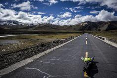 """Shishapangma Ski Challenge 2013"" was the first event of the five-year project called Hic Sunt Leones.. photo: Marcin Kin Photography #suntleones #shishapangma #road"