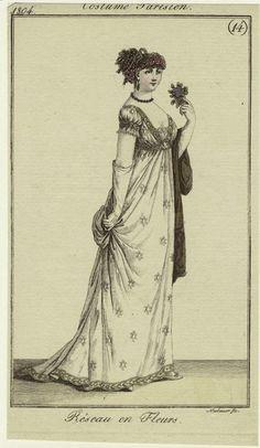 """""""Réseau en Fleurs"""", Journal des Dames et des Modes, 1804; NYPL 801753"""