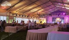 SHELTER Catering Tents - Wedding Hall - Party Marquee - Luxury Reception Tent - Outdoor Catering Venue -164