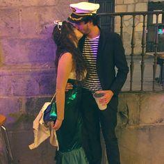 "Mermaid and sailor costume carnaval carnival halloween siren couple Sabrina Noda (@sabrinanoda) en Instagram: ""Chicharrero mio ❤"""