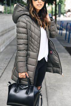 Style Blogger Crystalinmarie Bernardo primaloft and down coat in soil