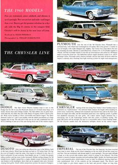1960 Chrysler Corporation Cars
