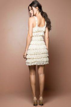 Off Boho Crochet Dress - Vanessa Montoro USA - vanessamontorolojausa