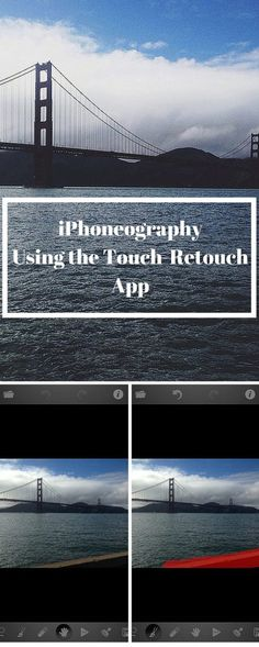 I've got lots of tools in my iPhoneography toolbox! Have you tried the TouchRetouch app?? Find out how it can improve your iPhoneography