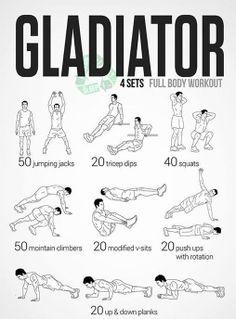 Full Body Exercise - Gladiator Workout