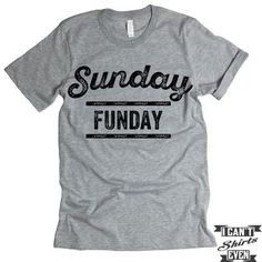 Sunday Funday T-shirt. Football Fan Shirt.