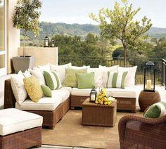 Modern Outdoor Furniture by Pottery Barn | Interior Design, Home Design, Living Room Design