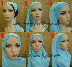 Cool hijab tutorial, love how the scarf crosses in the front