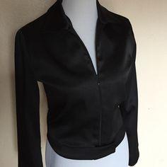 Motivi Italian Cropped Satin Jacket 100% polyester zip up front Motivi Jackets & Coats