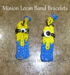 Minion Loom Band Bracelet (Rainbow Loom)