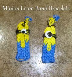 Minion Loom Band Bracelet (Rainbow Loom)