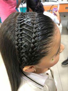 Niñas Girls Natural Hairstyles, Little Girl Hairstyles, Braided Hairstyles, Cool Hairstyles, Natural Hair Styles, Long Hair Styles, Cool Hair Designs, Middle Hair, Hair Doo