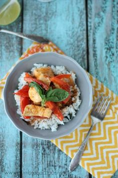Thai Coconut Curry with Lime Basil Rice   Crumbs and Chaos AD #PanWithAPlan #ImagineNation