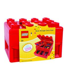 Take a look at this Red LEGO Carry Case by LEGO on #zulily today!