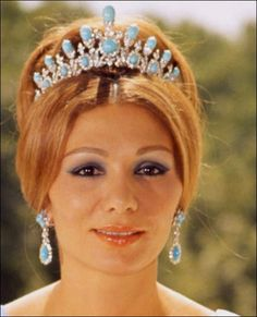 Empress Farah of Iran sleeping beauty turquoise which is currently the most expensive turquoise in the market.