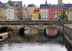 Bridge over the canal (Copenhagen, København, Danmark, Denmark, Places Around The World, Oh The Places You'll Go, Places To Travel, Places To Visit, Around The Worlds, Kingdom Of Denmark, Denmark Travel, Scandinavian Countries, Voyage Europe