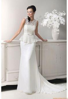 Elegante Brautkleider 2014 aus Chiffon mit Spitze