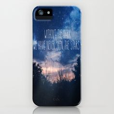 Without The Dark We Have Never Seen The Stars  iPhone & iPod Case by secretgardenphotography [Nicola] - $35.00
