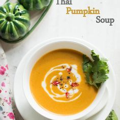Thai #pumpkin soup with red curry paste
