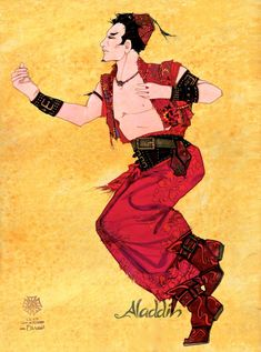 Kasim costume rendering by Gregg Barnes. Disney's Aladdin on Broadway. Interview with Costume Designer Gregg Barnes - Tyranny of Style