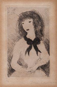 Portrait of a Woman By Marie Laurencin ,1926