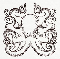 Nauticus - Octopus design (UT7962) from UrbanThreads.com | I may be aiming higher than I can go but I think this would be awesome to try!