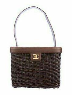 Save big on the Chanel Vintage Rare Wicker Handbag Brown Raffia Satchel!  This satchel is a top 10 member favorite on Tradesy. a30c5b1277f92