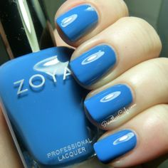 Zoya Tickled Collection: Summer 2014 - Swatches and Review - Blue Nail Polish -  Zoya Ling - http://www.zoya.com/content/category/Zoya_Tickled_Bubbly_Summer_2014_Nail_Polish_Collection.html