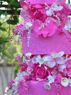 Pretty pink Wedding Cake...