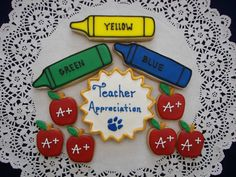 Teacher Appreciation Cookies by ruthiescookies on Etsy, $48.00