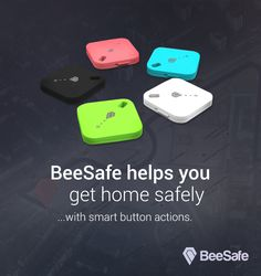 BeeSafe smart button - portable bluetooth device. Safer life coming soon!