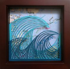 Waves Paper Cutting by all things paper, via Flickr