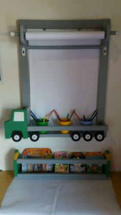 Kids Room Art, Kids Room Design, Home Room Design, Cool Kids Bedrooms, Diy Toy Storage, Handmade Wooden Toys, Toy Rooms, Baby Boy Rooms, Baby Room Decor