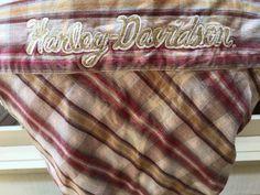 HARLEY-DAVIDSON Womens Snap Down Checked Sleeveless Western Style Shirt Sz Med. #HarleyDavidson #Western #Casual